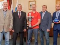 Новгородская команда вернулась из Германии с Кубком турнира по мини-футболу среди ветеранов