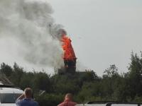 В Карелии пожарные выясняют, из-за чего сгорела Успенская церковь XVIII века