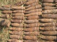 В Маревском районе поисковики передали группе разминирования около 300 снарядов