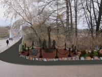 Боровичский энтузиаст самостоятельно расчищает площадку для будущего памятника морякам
