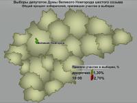 На 10 утра в голосовании на выборах в Думу Великого Новгорода приняло участие 2,7% избирателей