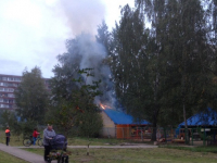 Неизвестные подожгли веранду в детском саду в Великом Новгороде