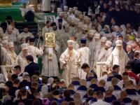 Новгородские архиереи почтили память митрополита Никодима вместе с Патриархом