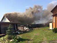Симпатичный домик горел сегодня в Новгородском районе