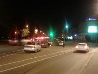 На мосту Александра Невского столкнулись четыре автомобиля