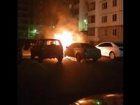Ночью в «Ивушках» подожгли автомобиль