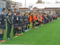 Открытие долгожданного футбольного поля в Боровичах сопровождал дождь