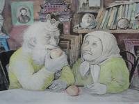 Парфинские заключенные нарисовали своих бабушек и дедушек