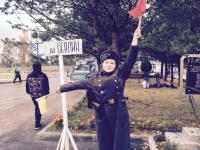 Участники ретро-ралли побывали в городе-госпитале Боровичи