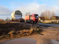 Деталь величиной с дом для Белорусской АЭС сегодня покинет дороги Новгородской области