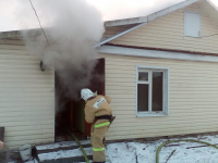 На пожаре в Волоте погибли мужчина и женщина