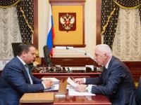 Андрей Никитин и Александр Гуцан обсудили развитие социальной сферы Новгородской области