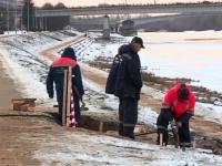 Новгородский водоканал восстанавливает участок набережной напротив церкви Бориса и Глеба