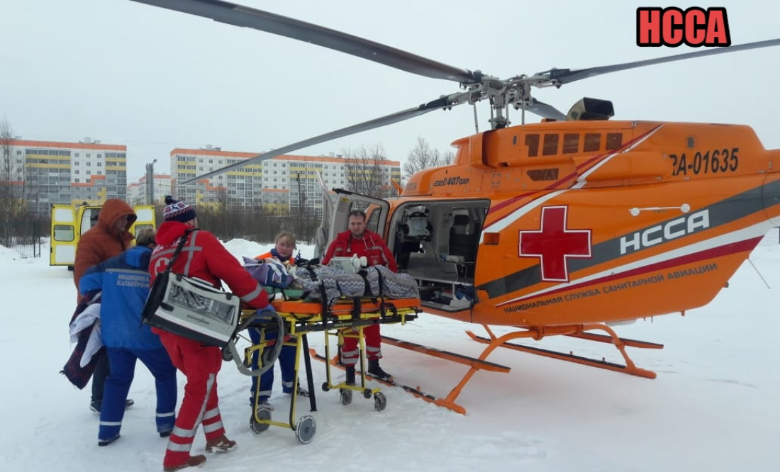 Вертолет доставит из Боровичей в Великий Новгород малыша с пороком сердца и тяжелой ветрянкой