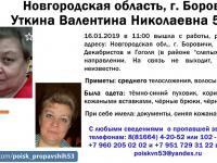 В Новгородской области ищут женщину, не вернувшуюся домой после работы