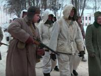 Видео: историческая реконструкция «шествия» немецких военнопленных в освобожденном Новгороде