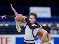 Диана Девис и Глеб Смолкин упустили лидерство и взяли серебро Кубка России по фигурному катанию
