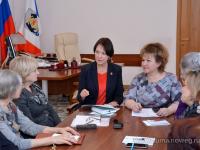 Елена Писарева и Ольга Колотилова обсудили с общественницами предстоящий Женский форум