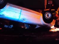 Нетрезвый водитель попал на М-10 в Валдайском районе в ДТП. Авто перевернулось