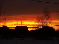 Новгородцы поделились в соцсетях красивейшим рассветом-пожаром