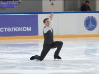 После короткой программы среди юношей на Кубке России лидирует фигурист Андрей Мозалев