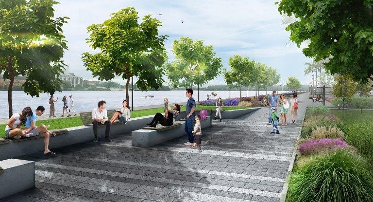 Представлен проект благоустройства набережной Александра Невского. Требуется более 500 млн рублей