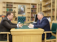 Губернатор Андрей Никитин провел рабочую встречу с главой Чудовского района