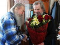 Настоятелю храма в новгородском селе Перетно Евгению Федорову исполнилось 95 лет