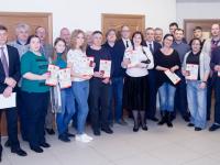 Журналистам вручили медали за освещение мероприятий, посвященных 75-летию освобождения Новгорода