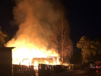 В многоквартирном доме в Демянске произошел пожар