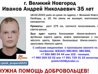 В Великом Новгороде добровольцев просят помочь в поисках 35-летнего мужчины
