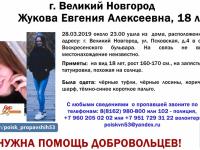 В Великом Новгороде пропала девушка с татуировкой, похожей на солнце