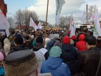 «Яблоко» и КПРФ сошлись на митингах в Окуловке