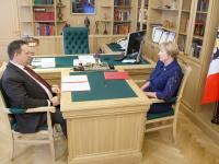 Андрей Никитин и Елена Леонтьева обсудили проблемы Парфинского района