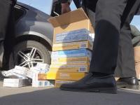 Новгородская полиция изъяла у криминальных дельцов восемь тысяч пачек нелегальных сигарет