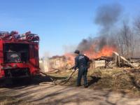 Новгородцы гадают о причинах пожара на Зоотехнической улице