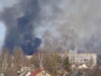 Рушане обеспокоены облаком черного дыма рядом с «Химмашем»