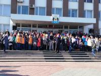 Сергей Бусурин прошел с новгородцами «10 000 шагов»