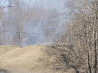 В Великом Новгороде горит трава на средневековом валу