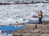 Величественный ледоход на Волхове и новгородцы. Фоторепортаж Сергея Суфтина