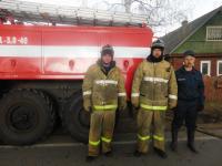 Любытинские пожарные отстояли дом за минуту