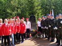 На поддорской земле открыли памятник на месте прорыва продовольственного обоза для блокадного Ленинграда через линию фронта