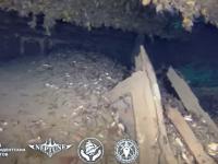 В сети появилось видео с затонувшего парохода с картинами Айвазовского