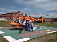 Из Великого Новгорода в Петербург вертолетом эвакуировали малыша с почечной недостаточностью