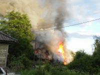 На пожаре в Малой Вишере погибли два человека