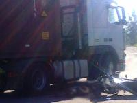 В Парфине водитель фуры насмерть сбил мотоциклиста