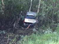 Водитель «Вольво» вылетел с трассы М-10 в Чудовском районе