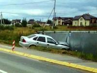 В Новгородском районе 80-летний водитель врезался в опору ЛЭП и получил перелом грудины