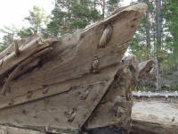 Специалисты детально изучили выброшенный на берег Онежского озера древний корабль