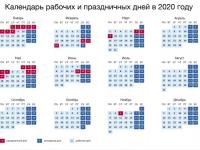Российское правительство опубликовало календарь праздников и выходных в 2020 году